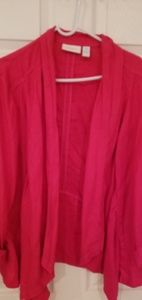 Light weight pink chicos jacket